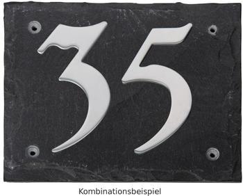 Esschert Hausnummer 12 auf Schieferplatte (Kreide)