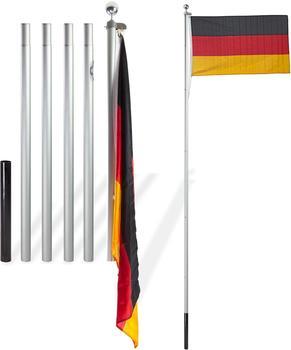 Dema Alu Fahnenmast 6,10 m + Deutschlandfahne 150 x 90 cm