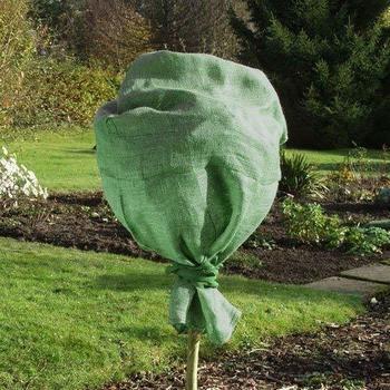 Xclou Garden Jute-Schutzsack 60 x 110 cm grün