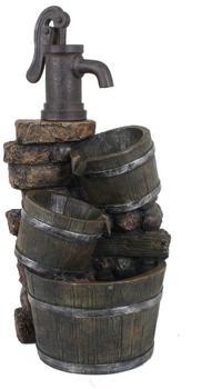 Die moderne Hausfrau Brunnen in Holzoptik mit Kaskade