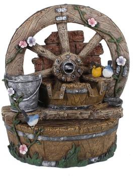 Garden Pleasure Holzbrunnen mit Deko-Rad