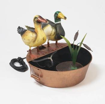 Westerholt Metall-Brunnen Ente