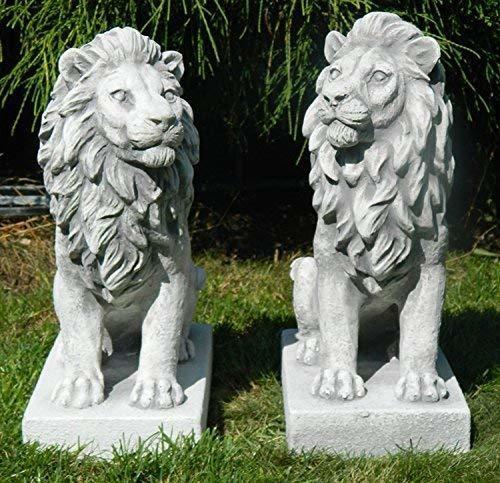 JS-GartenDeko Löwen rechts und links blickend - 2-er Set