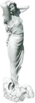 JS-GartenDeko Betonfigur Frau als Wasserspeier H 68 cm