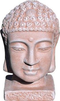 Tiefes-Kunsthandwerk Steinfigur Buddhakopf