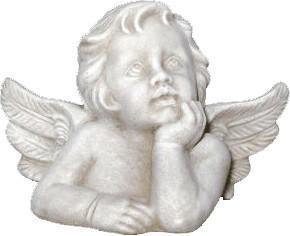 Tiefes-Kunsthandwerk Engel Skulptur (groß) Höhe: 20 cm