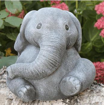 Tiefes-Kunsthandwerk Steinfigur Elefant (groß)