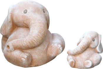 Tiefes-Kunsthandwerk Steinfigur Elefant 2er Set