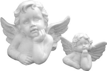 Tiefes-Kunsthandwerk Engel Skulptur 2-er Set