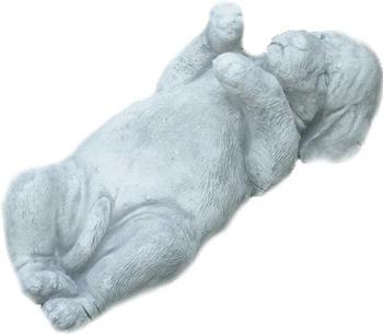 JS-GartenDeko Beton Figur Rottweiler Welpe liegend 40cm