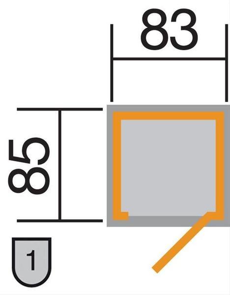Weka Gartenschrank 351 (83 x 85 cm)