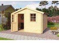 steiner-shopping-gartenhaus-g231-inkl-fussboden-28-mm-blockbohlenhaus-grundflaeche-9-m2-satteldach