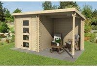 steiner-shopping-gartenhaus-g241-28-mm-blockbohlenhaus-grundflaeche-6-48-m2-pultdach