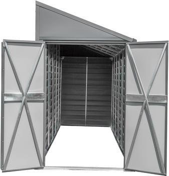 SPACEMAKER Metallgerätehaus 4x7 2,03 x 1,24 m anthrazit