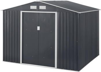 konifera-set-stahlgeraetehaus-archer-plus-d-bxtxh-267x255x212-cm-mit-bodenrahmen-grau