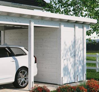 Kiehn-Holz Geräteraum BxT: 299x174 cm, weiß, Kiehn-Holz