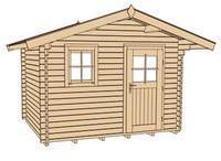 weka-gartenhaus-131-naturbelassen-gartenhuette-mit-fensterladen-blumenkasten-300x250-cm