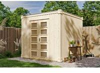 SKANHOLZ SKAN HOLZ Gartenhaus Cube L 250 x 250 cm, Wandstärke 19 mm, unbehandelt