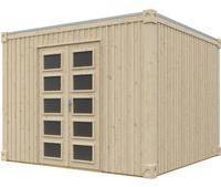 skanholz-gartenhaus-cube-xxl-300-x-300-cm-natur