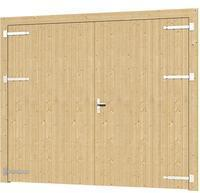 SKANHOLZ SKAN HOLZ Garagentor Falun, zweiflüglig 250 x 200 cm, nussbaum