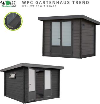 WOLFF FINNHAUS WPC Gerätehaus Trend C, ohne Imprägnierung