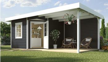 weka Designhaus Soley+ anthrazit, Wandstärke 28 mm, 541 x 238cm