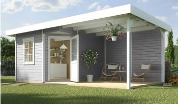 weka Designhaus Soley+ grau, Wandstärke 28 mm, 541 x 238cm