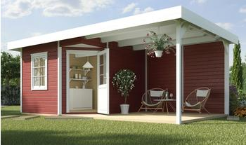 weka Designhaus Soley+ schwedenrot, Wandstärke 28 mm, 541 x 238cm