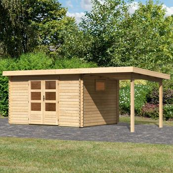 Woodfeeling Gartenhaus Trittau 4 BxT: 576x333 cm, (Set), mit Anbaudach