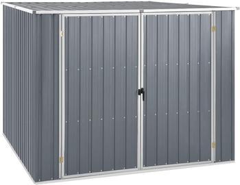 vidaXL Gerätehaus Grau 195x198x159 cm Verzinkter Stahl