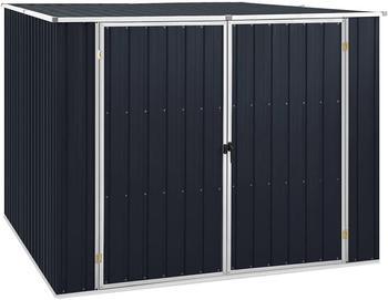 vidaXL Gerätehaus Anthrazit 195x198x159 cm Verzinkter Stahl