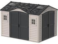 Duramax Kunststoffgerätehaus Apex Pro Grau 7,6 m²,