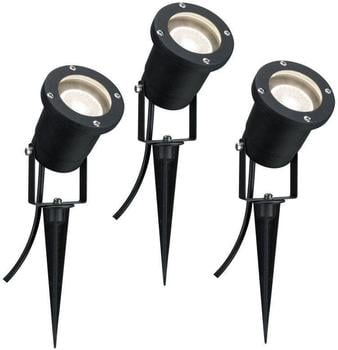 Paulmann Outdoor LED Pflanzenleuchte mit Erdspieß IP44 3x3,5W GU10 Schwarz