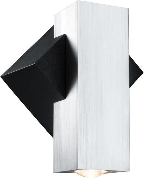 Paulmann Wandaufbauleuchte Special Line Flame eckig LED, Alu geb./Schwarz, 1x3,2W