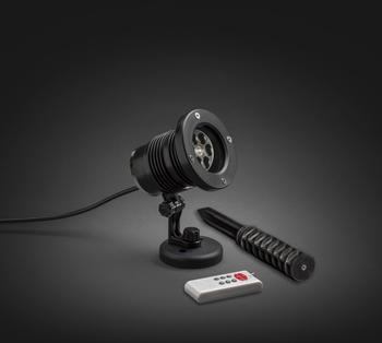 Konstsmide LED Lichtprojektor bunte Schneeflocken (4543-500)