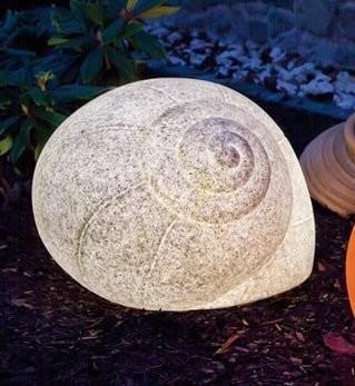 Epstein Design Leuchtschnecke Granit 40cm (40105)