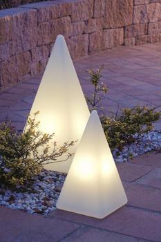 Epstein Design Pyramidenleuchte Weiss 75cm mit Dämmerungsschalter (70825)