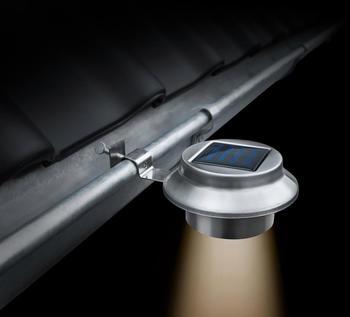 INNOCOM LED Solar-Dachrinnenleuchte 210053 4er-Set