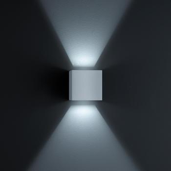 Helestra Siri 44 Up & Down LED Mattnickel eloxiert (A28242.18)