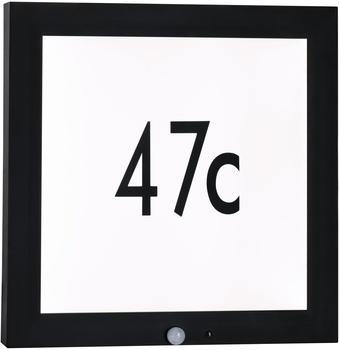 Paulmann LED-Hausnummer mit Bewegungsmelder 13W 40x40cm anthrazit (942.55)