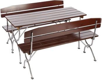 Mendler Linz mit Lehne 3-tlg. Tisch 180 x 60 cm