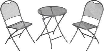 MWH Cafe Latte Balkon-Set Ø 60 cm (Streckmetall)