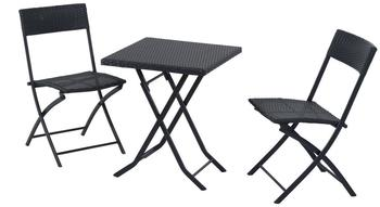 Outsunny Sitzgruppe 3-tlg. schwarz (841-093)