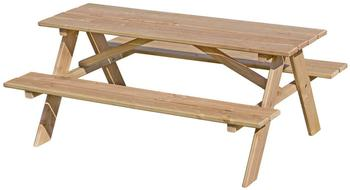 Gartenpirat Kinder-Picknicktisch mit Bank Lärchen-Holz (GP2109)