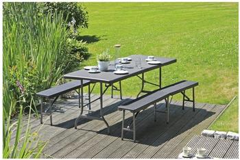 Garden Pleasure Ventana Set 3-tlg. schwarz