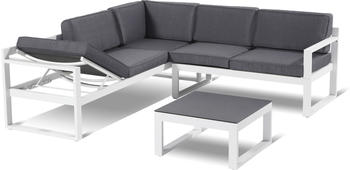 Hartman Perpignan Loungeset weiß/grau (65855003)