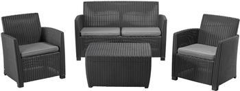 allibert-corona-lounge-4-tlg-4-sitzer-mit-cushionbox-anthrazit