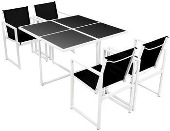 VidaXL Garten-Essgruppe 5-tlg. 109x109x72cm Aluminium (42799)