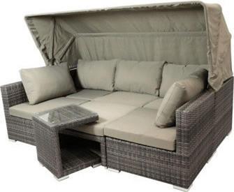 gartenmoebel-einkauf MANACOR Funktions-Loungeset grau bi-color