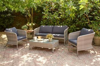 Siena Garden Moreno Lounge 4-teilig grau (J03966)